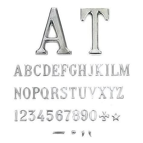 lettere romani lettere e numeri romano stretto in varie misure
