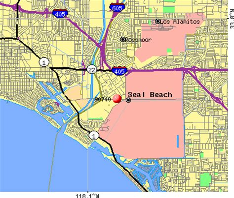 zip code map huntington beach ca zip code of seal beach ca