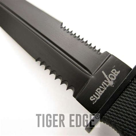 sided serrated knife 11 5 quot tang steel edge serrated dagger