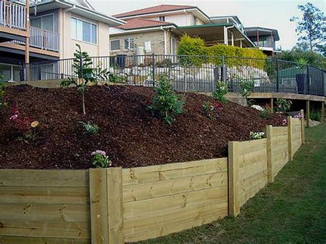 Landscape Timber Wall Design Treated Landscape Timbers Retaining Wall Landscaping