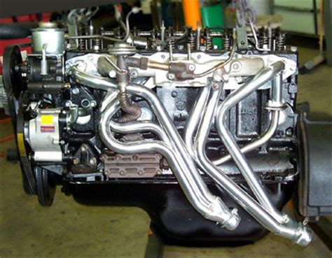 flange transmision t 2f exhaust header land cruiser 6 cylinder f and 2f tuned