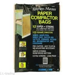 trash compactor bags 12 super strong paper w liner trash compactor bags sears whirlpool jennaire ebay