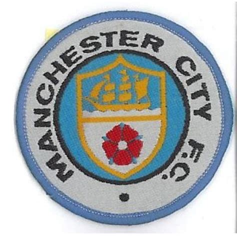 Patch Manchester City 1 manchester city fc football crest iron on patch 3 quot 7