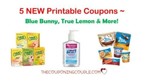 printable rabbit food coupons 5 new printable coupons blue bunny true lemon and more
