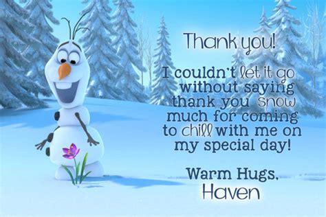 printable olaf thank you cards digital olaf thank you card frozen thank you card frozen