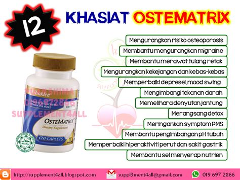Vitamin Ostematrix supplement4all specially created 4 you 12 khasiat