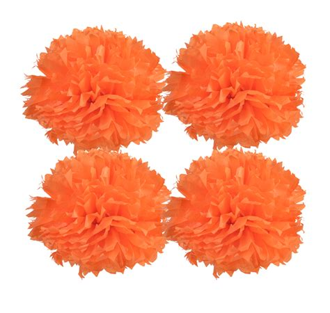 Paper Pom Poms - blowout 16 quot tissue paper pom poms orange 4 pack