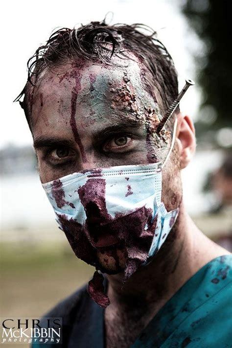 zombie doctor tutorial zombie doctor j 10 party sfx makeup pinterest