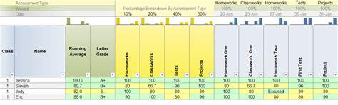 excel gradebook templates  teachers