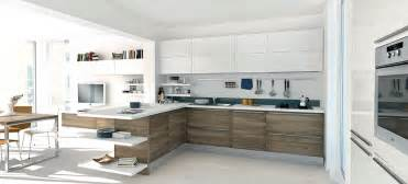 Open modern kitchens with few pops of color