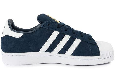 Adidas Supertar Classic B W adidas superstar suede junior bleu marine chaussures