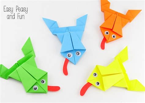 Childrens Origami - origami frogs tutorial origami for easy peasy and
