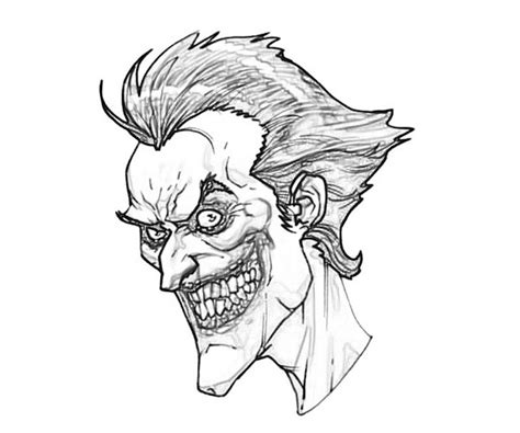Joker Face Coloring Pages | free coloring pages of the joker