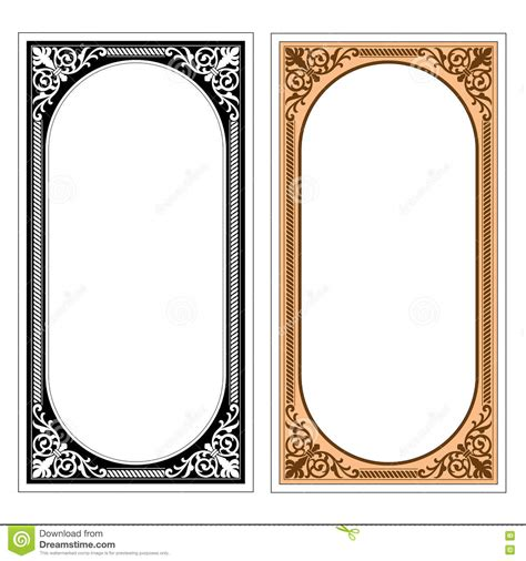 pattern frame illustrator vector vintage border frame logo engraving with retro
