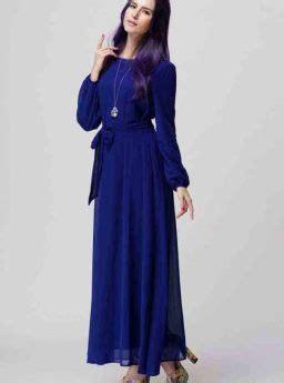 Baju Gamis Korea baju gamis biru simple korea 2016 jual model terbaru murah