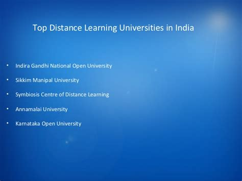 Top Universities For Distance Mba by Distance Learning Universities