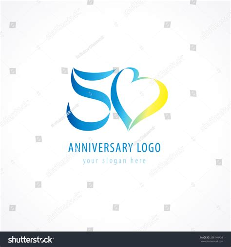 anniversary logo template template logo 50 anniversary in the form of figures 5 and