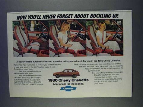in never forget buick commercial 1980 chevy chevette ad never forget buckling up
