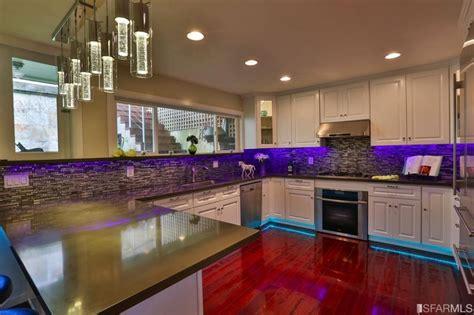 Mood Lighting Kitchen Miraloma Park Home With Club Like Kitchen Mood Lighting Asks 1 5 Million On The Block