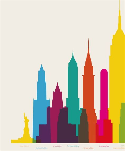 art design kalender new york colorful poster of nyc s colossal buildings building