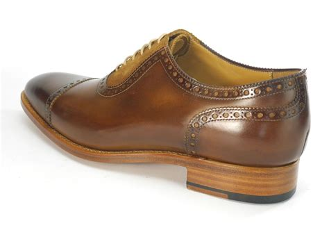 Handmade Shoes California - carlos santos all leather welted handmade mens lace up
