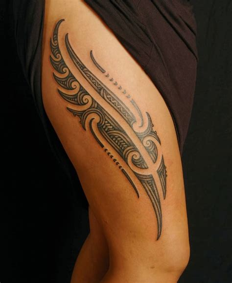 tribal thigh tattoos female 20 excellent maori designs for inspiration sheideas