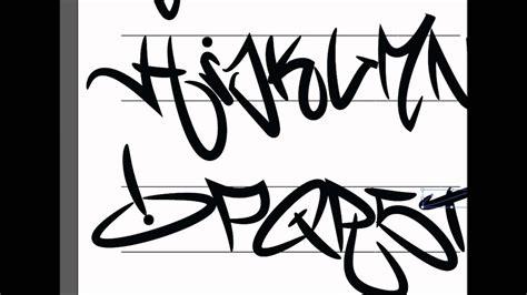 graffiti tagging alphabet illustrator youtube