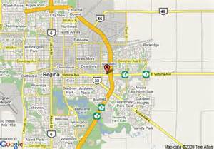 Regina Canada Map by Map Of Sandman Hotel And Suites Regina Regina