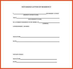 Notary Template by Doc 585590 Notary Template Notarized Letter Templates