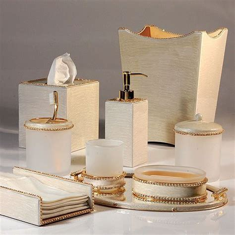 black and cream bathroom accessories mike ally audrey moonglow gold bath accessories bath accessories pinterest bath