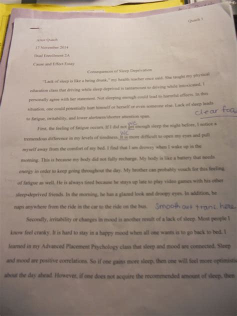 Sleep Deprivation Essay by Argumentative Essay On Sleep Depriv
