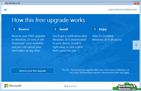 windows 10 reserve prompt now reserve your free windows 10 upgrade now from microsoft