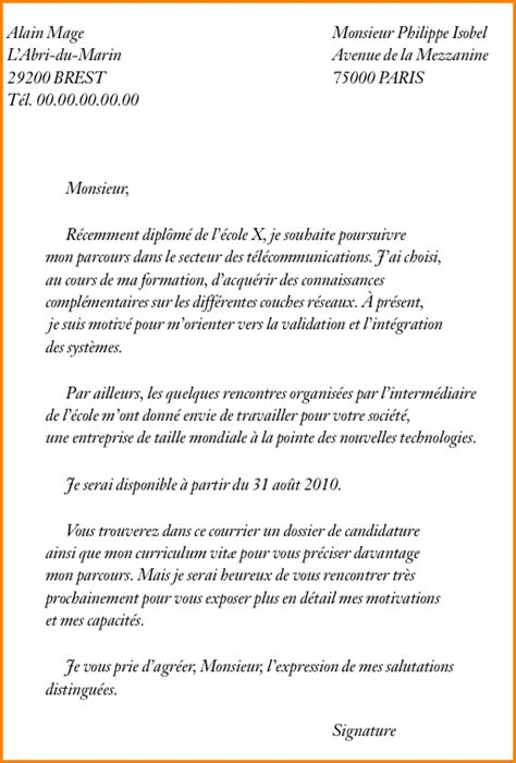 Lettre De Motivation Ecole Ingenieur Exemple 11 Exemple Lettre De Motivation Pour 233 Cole Exemple Lettres