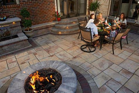 Hearth And Patio Sault Ste Rivenstone Patio With Copthorne 174 Accents And Brussels