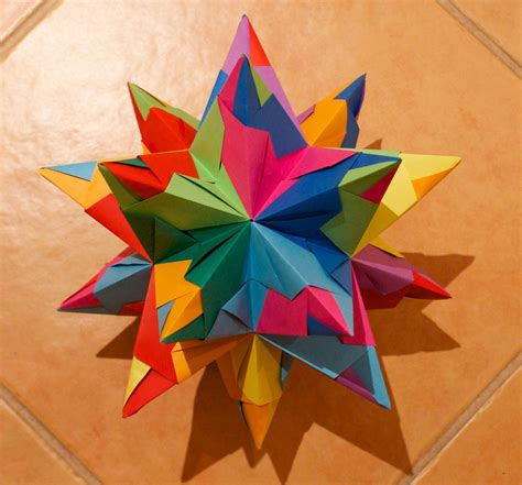 Origami 4 Pointed - puulihuna 20 pointed origami paper
