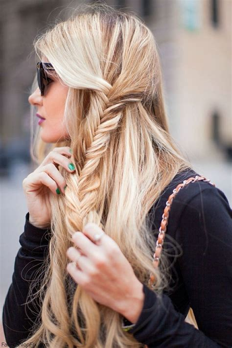Fishtail Braid Hairstyles by Hair How To Do Fishtail Braid Hairstyle Fab Fashion Fix