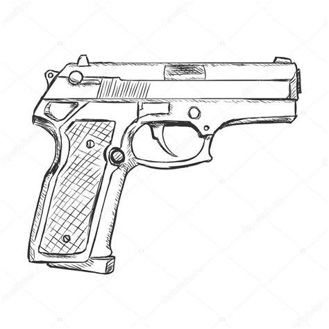 sketch beretta pistol stock vector 169 nikiteev 87130334