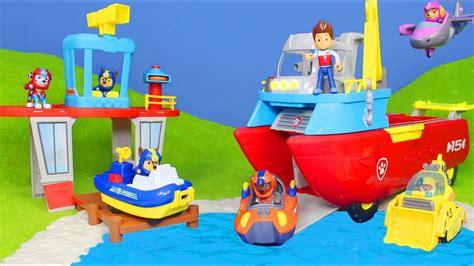 paw patrol rubble boat paw patrol chase feuerwehrmann marshall ryder sea