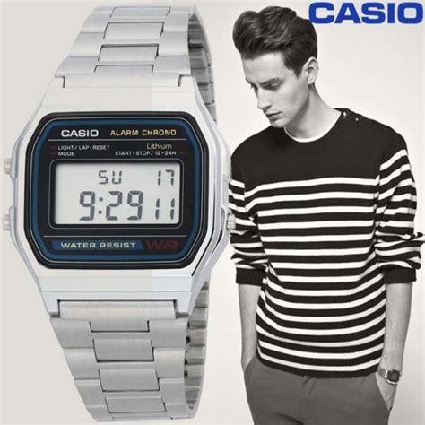 casio orologio vintage uhr unisex casio a158wa 1df vintage casio uhren