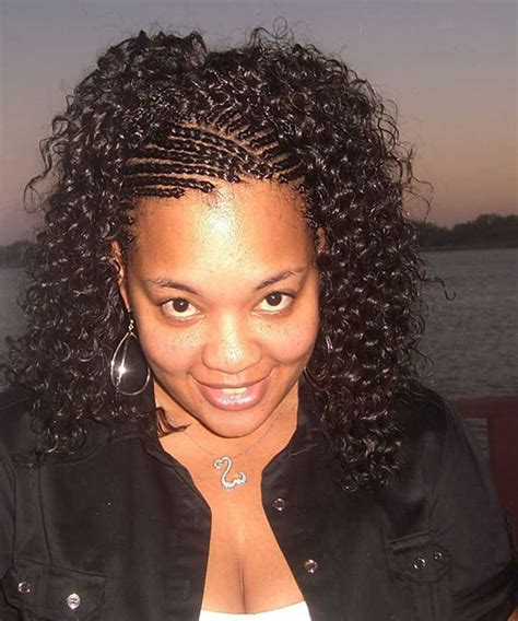 weave styles with twists in front pinterest african braided hairstyles extension cornrow