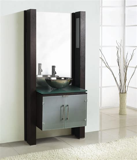 Bathroom Vanity Experts Hemetite Single 35 Inch Bathroom Vanity Set With Mirror