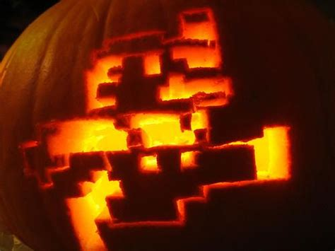 mario brothers pumpkin carving template mario pumpkin spookify your pumpkin with a mario pumpkin