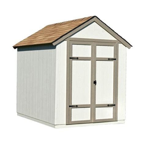 handy home products sherwood 6 ft x 8 ft wood shed kit
