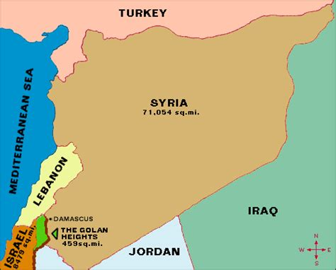 middle east map golan heights map of the golan heights and the middle east