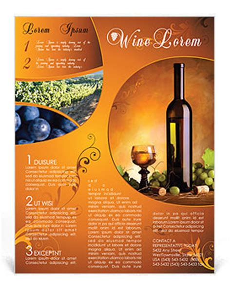 wine flyer template wine flyer template design id 0000000801