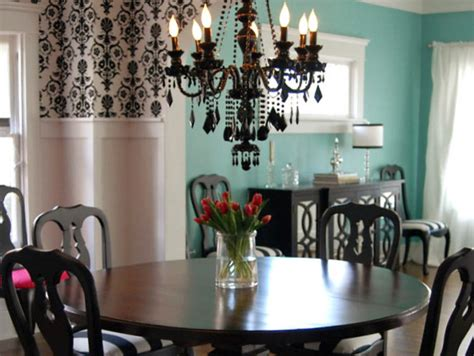 Vintage Dining Room Colors Design D 233 Cor Black And White Decor Dining Room