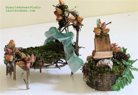 Decorating A Studio Rose Chair Woodland Fairy House Furniture Handmade Nature