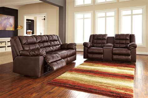 ashley living room set buy ashley furniture brolayne durablend saddle reclining