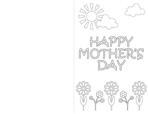 mothers day card templates to color free create a card s day flowers free printable