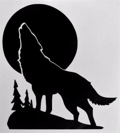 Animal Print Home Decor by Wolf Howling Moon Silhouette Car Truck Window Vinyl Decal